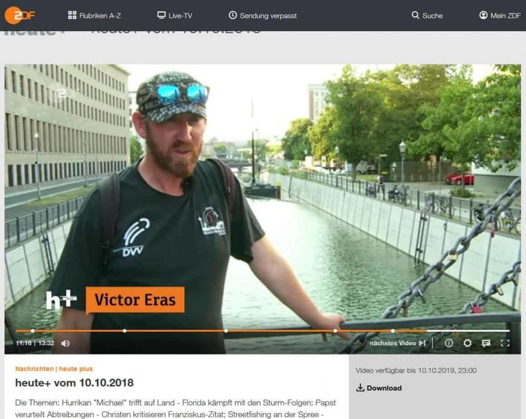 Angler Victor Eras bei ZDF Sendung Heute Plus
